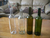 Wine Bottles - clean, steralized