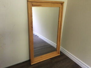 Mirror IKEA wood framed rectangle shape like new