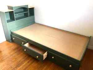 Single, Twin Captain Bed with Headboard & Drawers