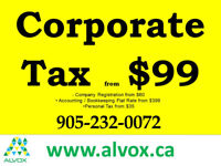 CORPORATE TAX from $99