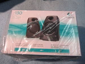 NEW Logitech Speakers Z130 Black Unopened. Computers, MP3 Player