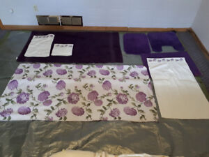 Seven Piece Bathroom and or Powder Room Linen Set