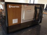 Russell Hobbs Piano Black Microwave Oven RHM1718B - 6mths old. Was £60 new