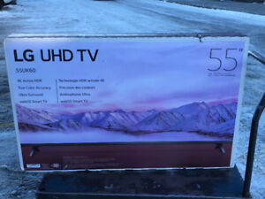 55 inch brand new LED LG TV. Never used - unopened 4K