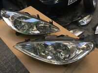 Peugeot 307 headlights pair driver & passanger