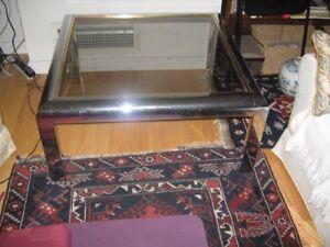 Chrome coffee table with glass top - circa 1930