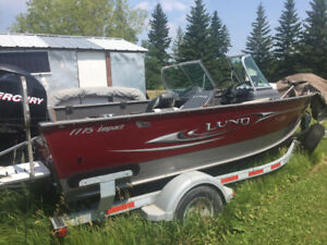 Lund Fishing boat & Trailer - 17hrs on motor - Reduced to $30K