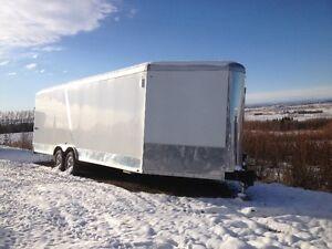 Never registered enclosed trailer 8.5 ft x 29 ft