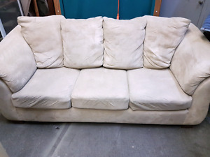 Microfiber couch and chair.