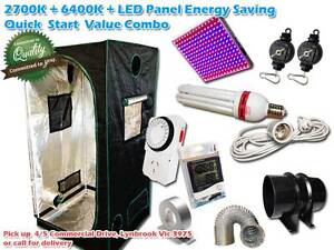 Hydroponic grow light LED Panel CFL Lamp Grow Tent Fan Duct Combo Lynbrook Casey Area Preview