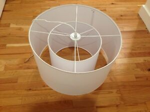 Brand new Ikea white double lampshade suspended light