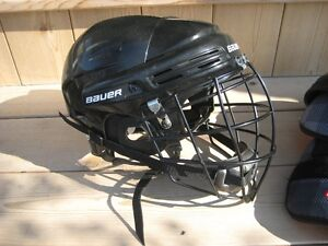 Bauer adult helmet with Lacrosse cage London Ontario image 1