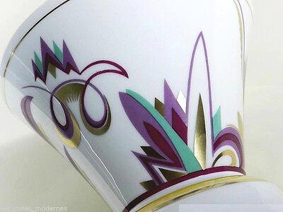 ROSENTHAL Porzellan Vase ° Art Deco Dekor im Kurt Wendler Stil