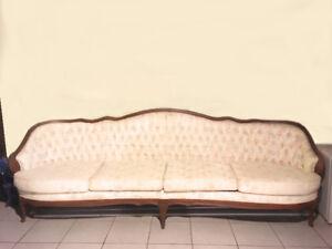 French Provincial Antique Sofa (set of three)