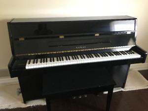 Black Kawai acoustic piano