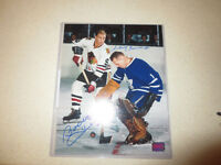 8 X 10 AUTOGRAPHED PHOTO OF BOBBY HULL AND JOHNNY BOWER