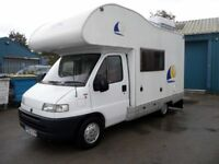 Fiat Ducato Motorhome with awning.
