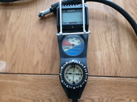 Diving gauges, Uwatec depth, pressure and compass