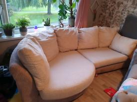 DFS Beige Curve sofa
