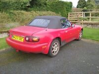Mk1 mx5 1.8 1996 for spares and repair
