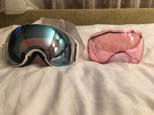 Oakley Airbrake XL goggles with 2 prism lenses