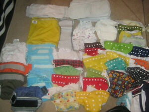 TON of cloth diapers