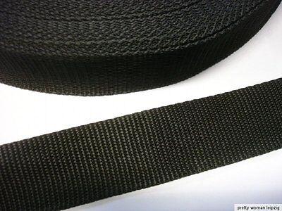 3 Meter Gurtband 0,70€/m schwarz 4cm breit Taschenhenkel, Spanngurt MC23