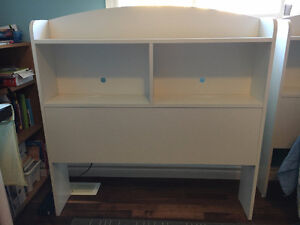 Twin Bookcase Headboard, Pure White, by South Shore Windsor Region Ontario image 1