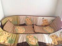 Lion king crib bumper pad- brand new!!