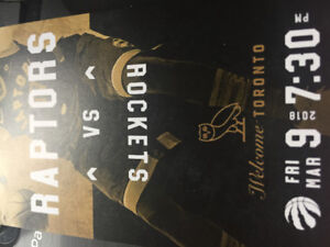 Courtside Tickets -Raptors vs Rockets Friday March 9th