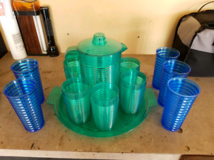Plastic drink set