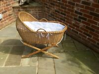 Beautiful Moses Basket - High Quality