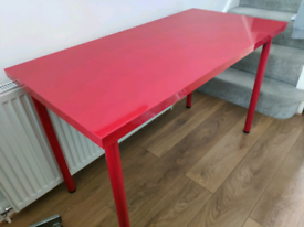 Ikea Linnmon shiny red Office Desk 120x60cm