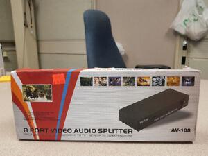 8 Port Audio / Video Splitter