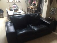 Black Leather two and three seater suites