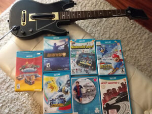 Amazing Wii U Games Package + Guitar hero Live Guitar