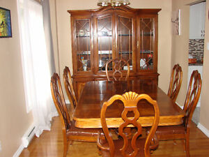 Dinning room table and hutch cabinet