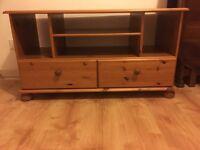 2 drawer wooden cabinet