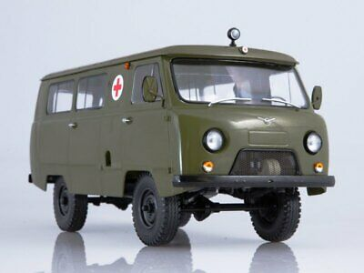 Scale model 1:18 UAZ-452A sanitary 1972, used for sale  Shipping to United States