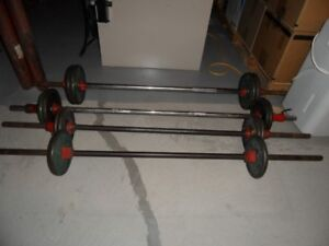 WEIGHTS - BARBELLS WITH STANDUP RACK