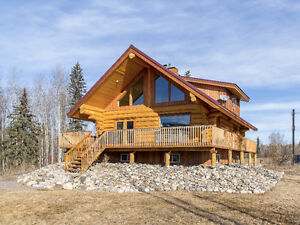 CUSTOM-BUILT LOG HOME