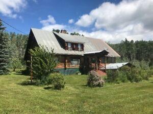 Large log home on 6 acres near Fraser Lake