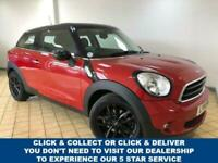 2014 14 MINI PACEMAN 1.6 COOPER 3DR 4 SEAT PETROL AUTO STUNNING IN RED WITH CHIL