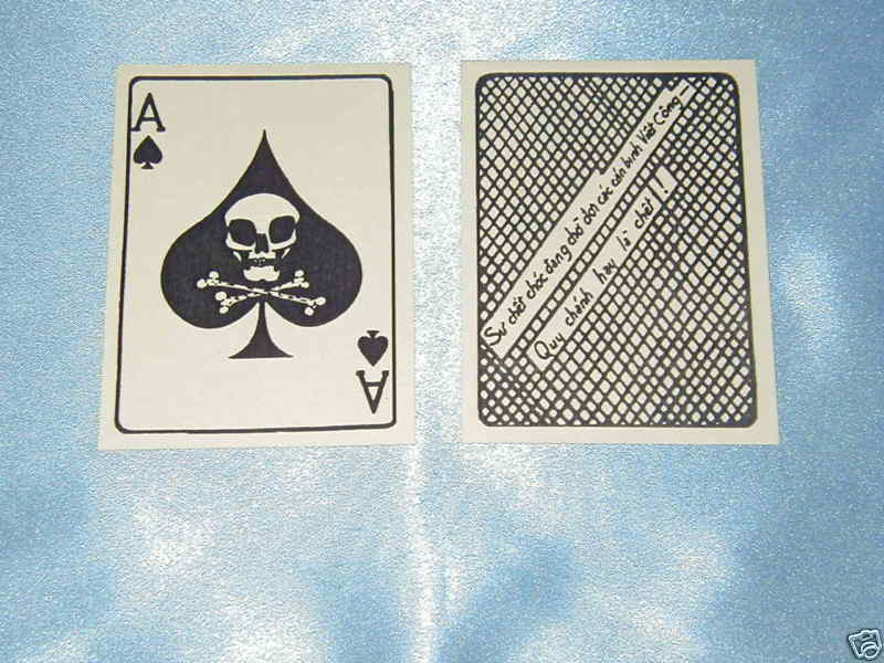 VIETNAM WAR ACE OF SPADES DEATH CARD TW0 (2) EACH ONLY $ 5.00 SAME DAY SHIPPING