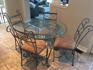 Custom Made! Dining Table, 4 Chairs, and 2 Counter Stools