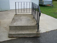 Precast concrete step and railing - MAKE AN OFFER -ANY OFFER