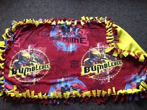 Bumblebee/Transforms handmade fleece blanket