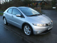 HONDA CIVIC 1.8i-VTEC 6 SPEED ES PANORAMIC ROOF READY TO DRIVE AWAY
