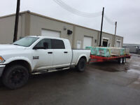 Hotshot 3500 Pickup Truck/trailers for hire, $50/hr + $.50 km