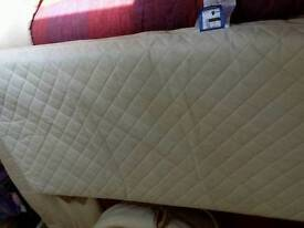 Cot bed sprung mattress in near perfect condition with removable washable cover x 2